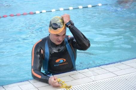 Plavalo se v 50m bazénuv Podolí